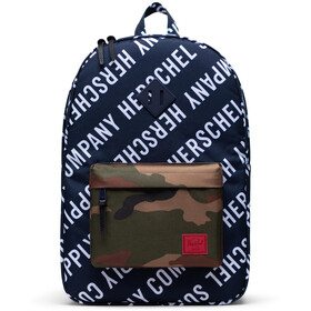 Herschel Heritage Sac à dos, roll call peacoat/woodland camo